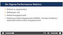 Six Sigma Performance Metrics and Financial Measures